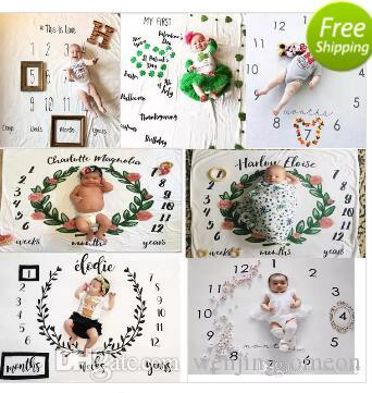 11 StylesIns Kids Blankets newborn photography background props baby photo prop f backdrops infant blankets wrap letter soft blanket mat