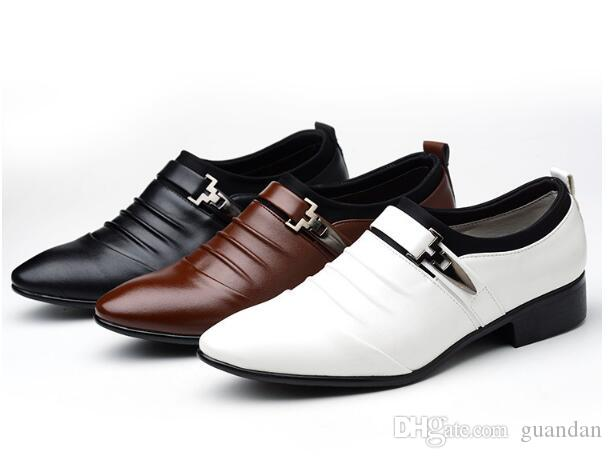Shoes Men Leather Mens Formal White