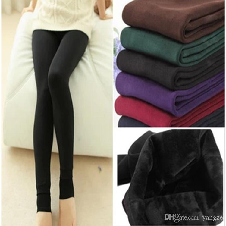 Women/'s Warm Fleece Lined Fur Thermal Thick Leggings  Winter Tight PencilPants