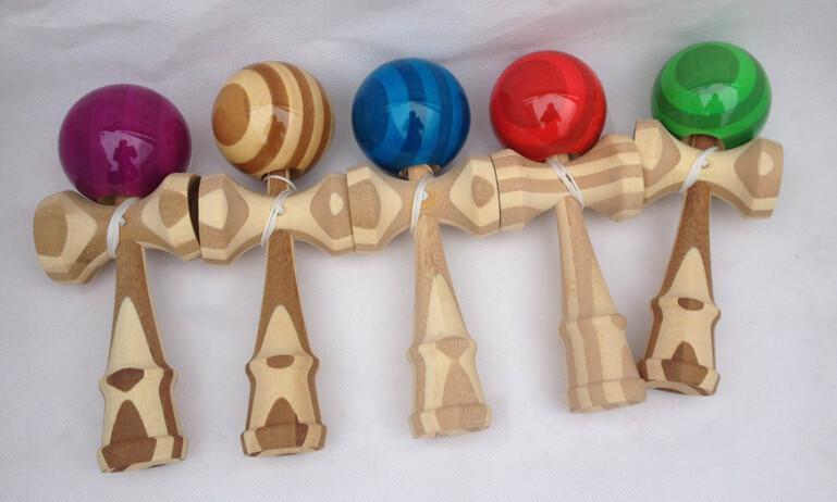 Hot Japanese Traditional Game Toy Kendama Ball Bamboo Kendama Ball 18.5CM Intelligence Toys Free Shipping