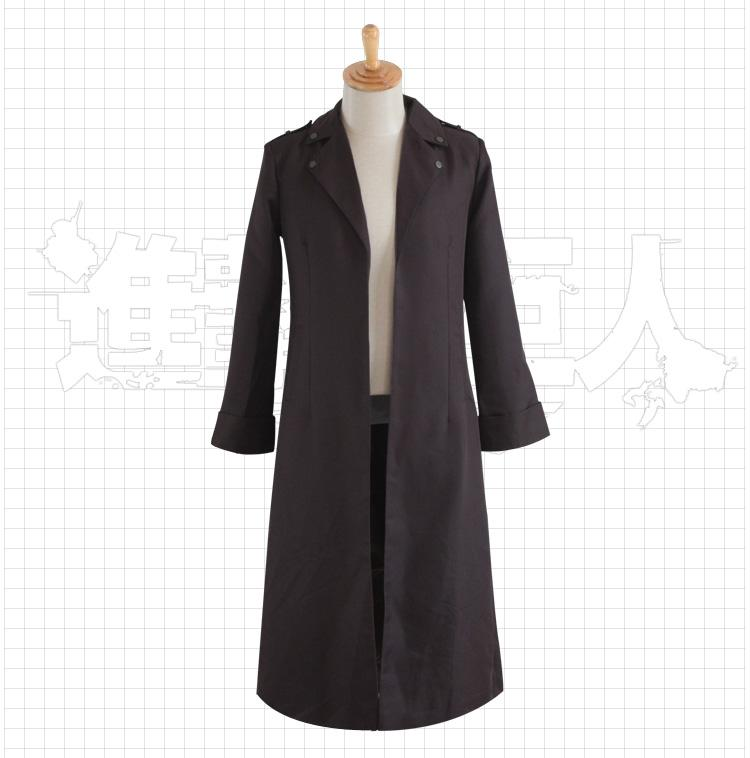 Wniter Fashion Japanese Anime Costume Cosplay Attack on Titan Rivaille Cloack Costume para adultos envío gratis