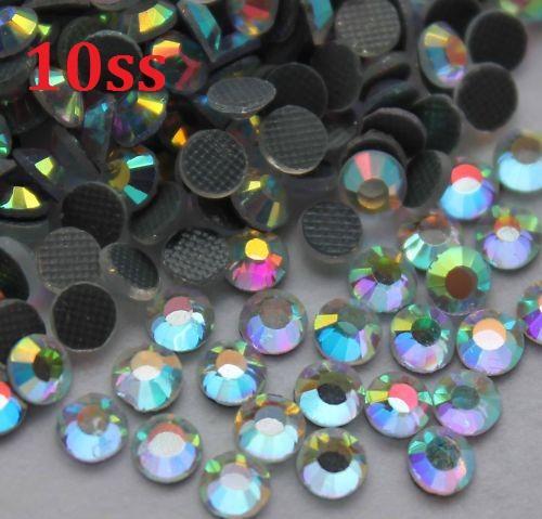 1440pcs 10SS 3mm Kristall AB Heiße Verlegenheit Rhinestones Korne für das Nähen