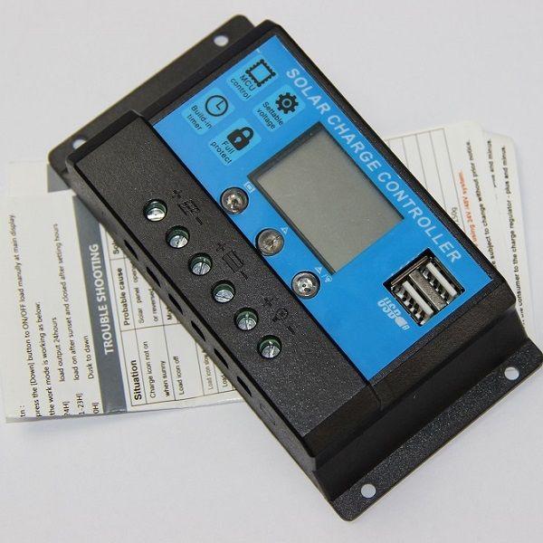 30a 12 فولت / 24 فولت الشمسية لوحة تحكم منظم البطارية المسؤول الشمسية تحكم لوحة للطاقة الشمسية شاحن المزدوج usb جديد شحن مجاني