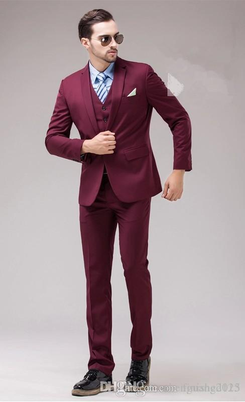 Burgundy Suits For Prom | My Dress Tip