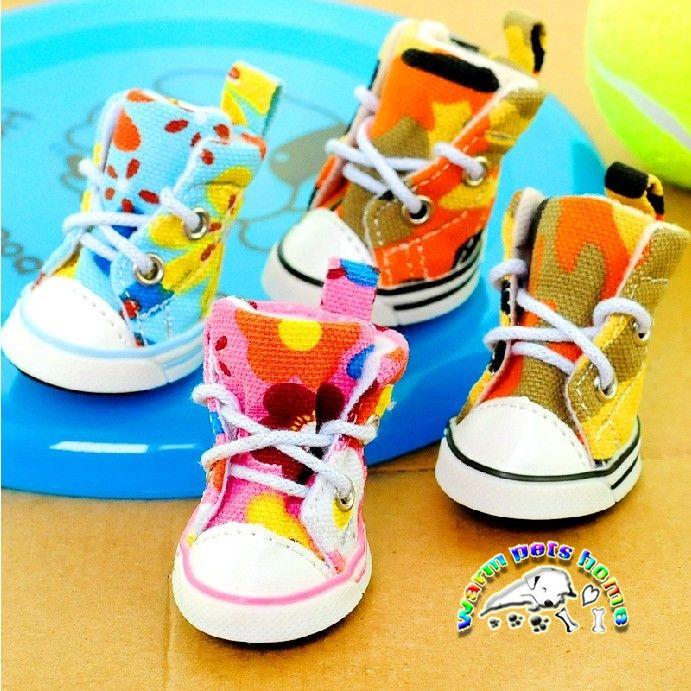 CA901 4pcs/set dog shoes sport large casual shoes for dogs jean pet shoes dog slip-resistant outdoor pet boots