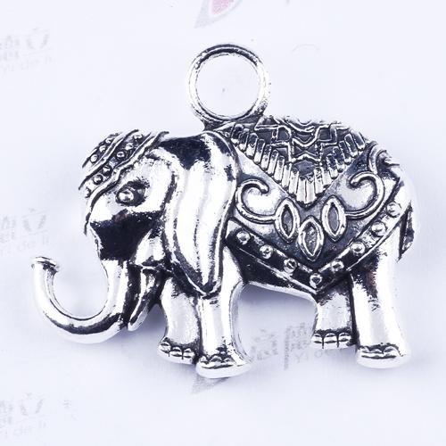 2016 New Fashion DIY Retro Silver Elephant Pendant Fit Bracelets Necklace Metal Jewelry Making 20pcs/lot 2873