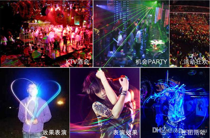 LED Finger Lights Lamps Party Laser Finger Light Up Beam Torch Glow Ring