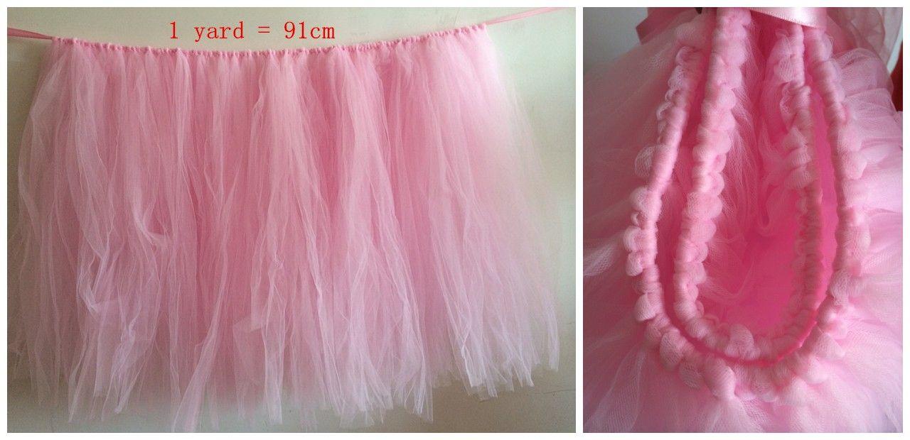 Short Description SO Beautiful Handmade Table Tutu Skirt