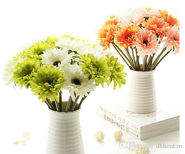20pcs artificial silk gerbera chrysanthemi flower chrysan home and party decorative flowers festive and party hot sell free shipping