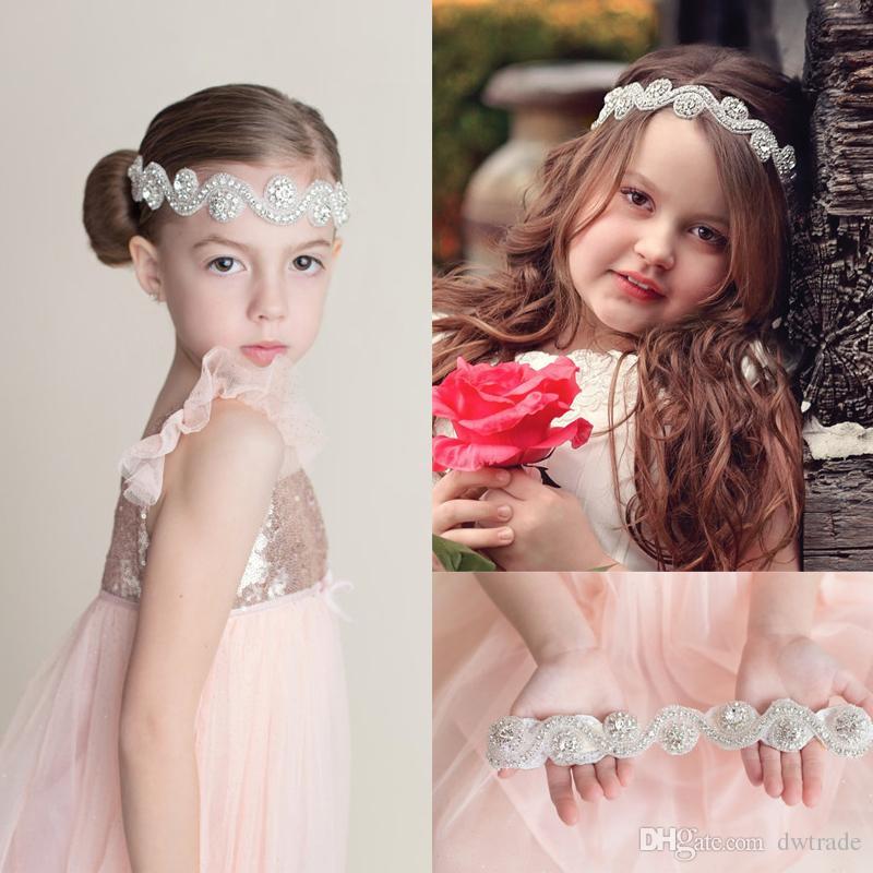 2015 HOT Mädchen Hochzeit Strass Stirnbänder Günstige Kristall Tiaras Blume Zubehör Handmade Haarband kostenloser Versand MOQ: 10pcs SVS0191 #