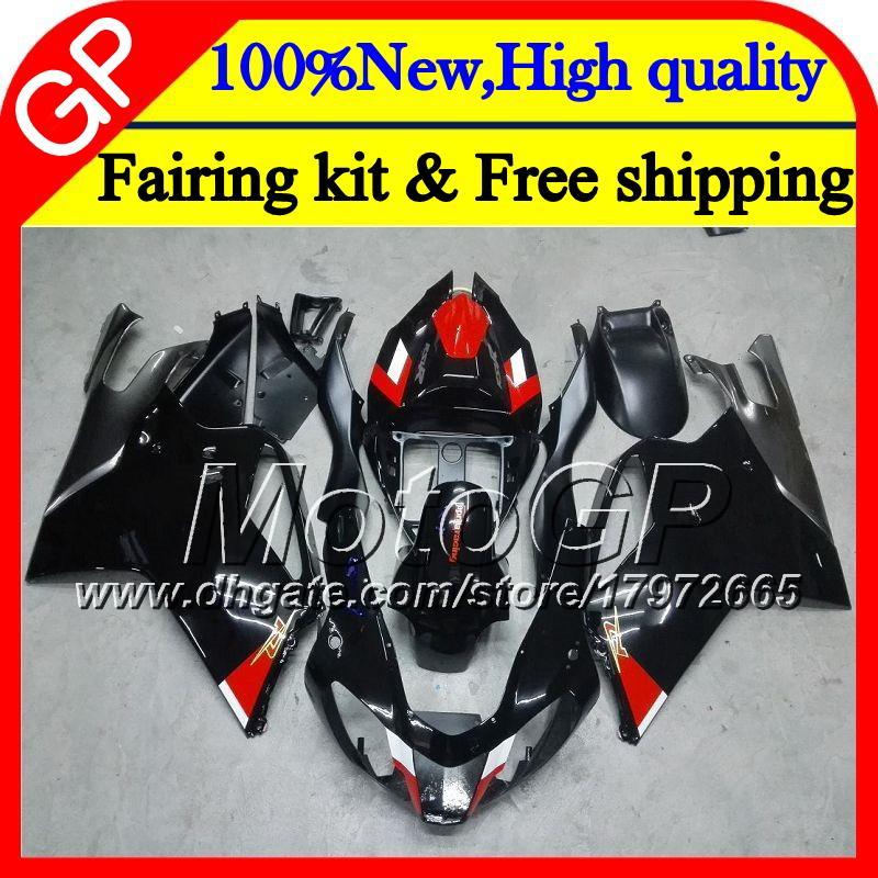 Carrosserie Pour Aprilia RSV1000R Mille RSV1000 RR 03 04 05 06 07 08 Noir brillant 2GP7 RSV 1000R 2003 2004 2006 2006 2007 2008 03 Carénage de moto
