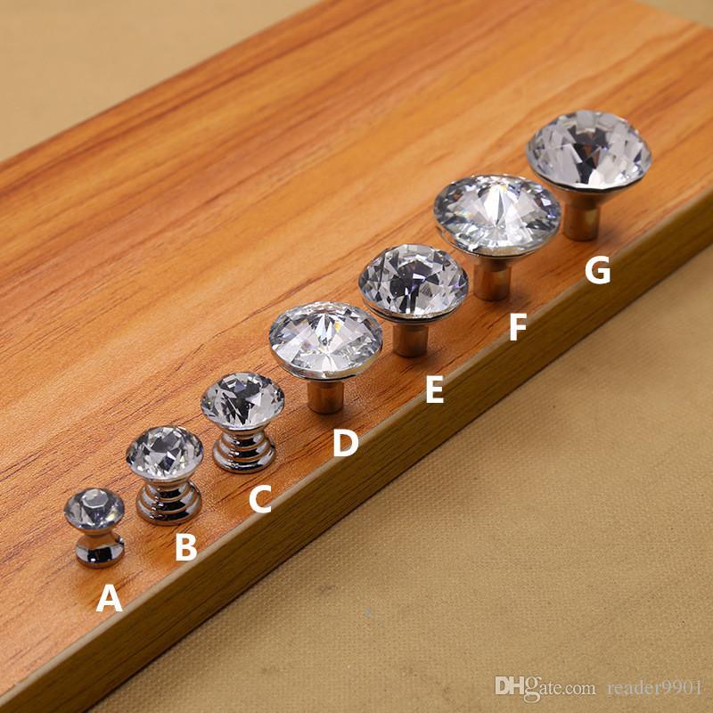 Modern kids children crystal Zinc alloy single cabinet handles diamond shape knobs cute drawer pull #536
