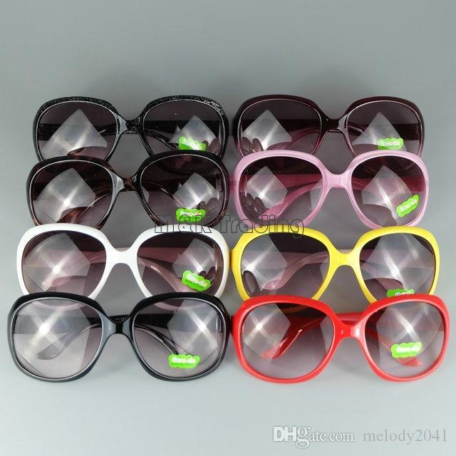 Occhiali da sole per bambini Big Around Frame Summer Beach Occhiali da sole Bambini Occhiali da vista UV400 Mix 8 colori 24 pezzi / lotto