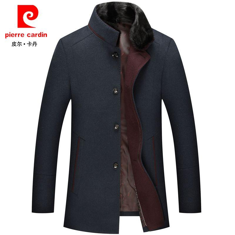 Pierre Cardin New Middle Aged Men'S Wool Woolen Coat Thickened In Casual Long Winter Fur Collar Jacket Men Canada 2019 From Xinkeji, CAD $230.41 |