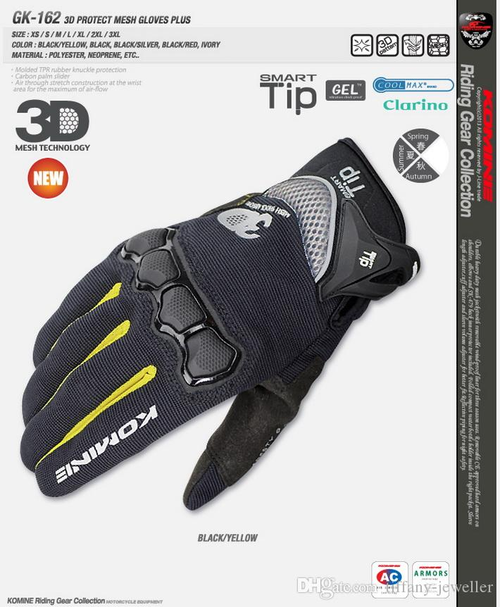 2015 summer new KOMINE GK162 3D mesh TECHNOLOGY riding glove motorcycle/motorbike/Moto racing gloves have 4 kinds colors size M L XL