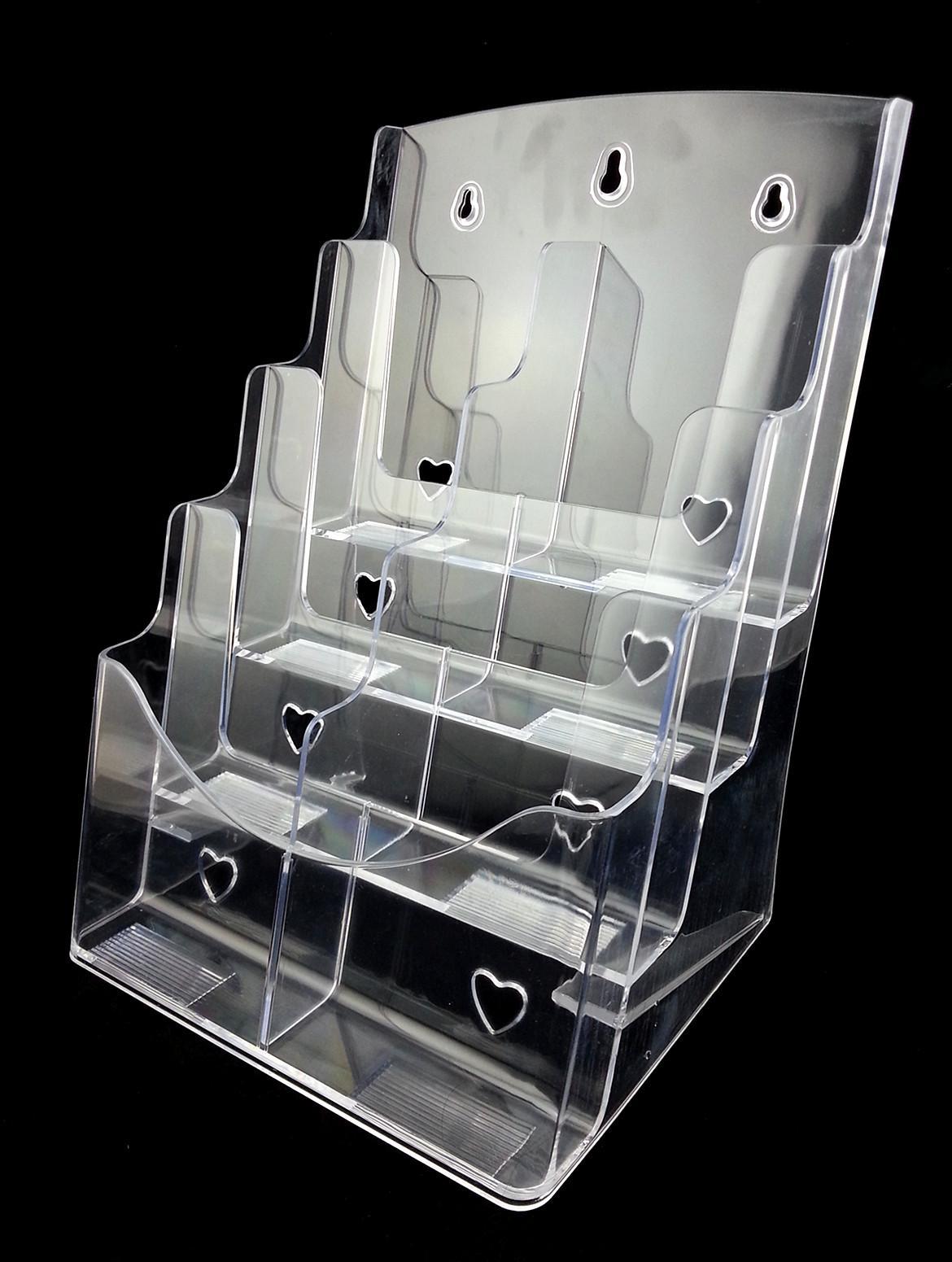 Opuscolo trasparente A6 otto opuscoli opuscolo Letteratura plastica acrilico Display Holder Stand per inserire il depliant sul desktop 2 pezzi da Express