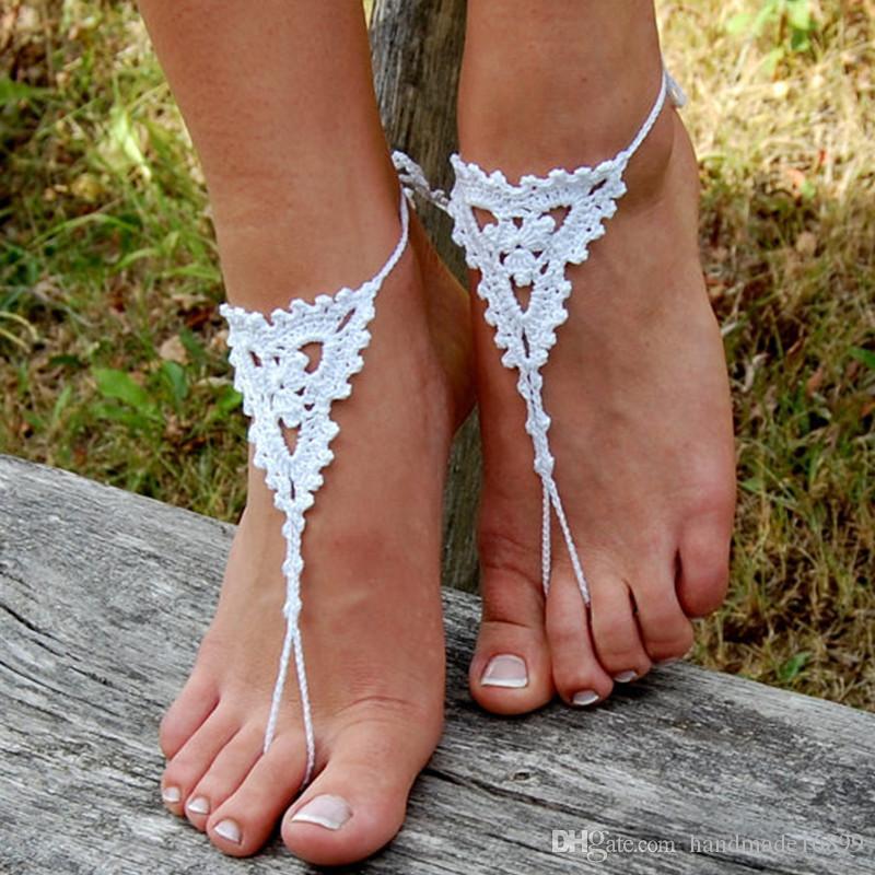 Crochet Barefoot Sandals Pair