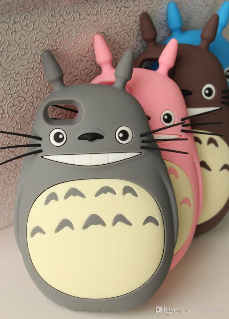Pour IPhone6 Casquette En Silicone 3D Totoro Cat Pour IPhone 5 5S 6 Galaxy S5 Note 3 Couverture De Bande Dessinée Hayao Miyazaki Proposé Par ...