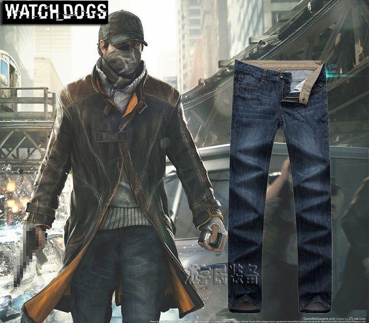 Compre Reloj Perros Aiden Pearce Jeans Watchdogs Cosplay Traje Jeans Rectos De Los Hombres Azul Marino De Alta Calidad Envío Gratis A 4062 Del
