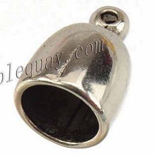 Компоненты ювелирных изделий DIY шнуры торцевые крышки бусы браслет старинные серебряный колокольчик дизайн 8 мм круглые большие отверстия металлические оптовые моды 10 * 14 мм 100 шт.