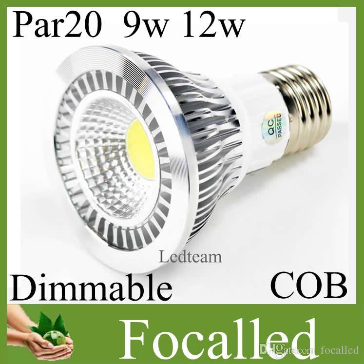 CREE 9W 12w Par20 Bombilla Led Regulable 9W E27 AC110-245V Par 20 Lámpara de luz puntual LED Blanco cálido blanco para iluminación de decoración del hogar