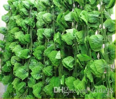 2.5M 60pcs foglie d'uva artificiali piante di vite foglie di vite rattan