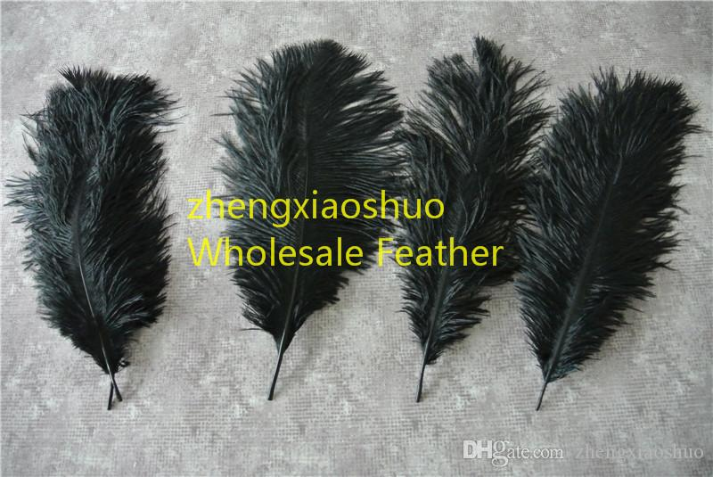 Prefect Natural Ostrich Feather Pure Black 10-12 inch Wedding Decoration wedding centerpiece Eiffel Centerpieces party event supply decor
