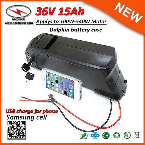 Qualité fiable Meilleur prix Dolphin vers le bas Type de tube 500W Li-ion batterie E vélo 36V 15Ah Batterie au lithium pour les vélos électriques