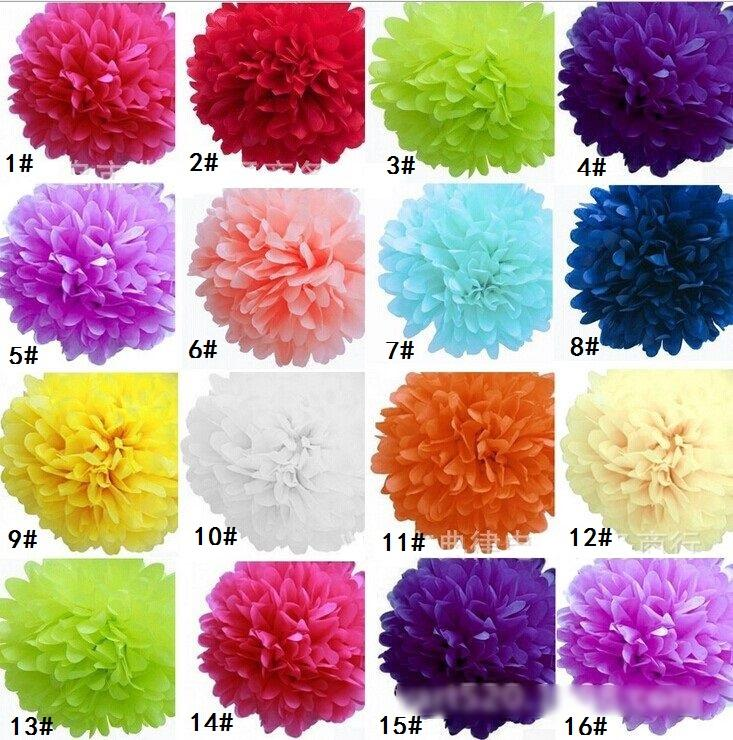Папиросная бумага Pom Poms бумажный фонарь Pom Pom цветет цветочные шары 6/8/10/12 / 14inches многоцветные варианты