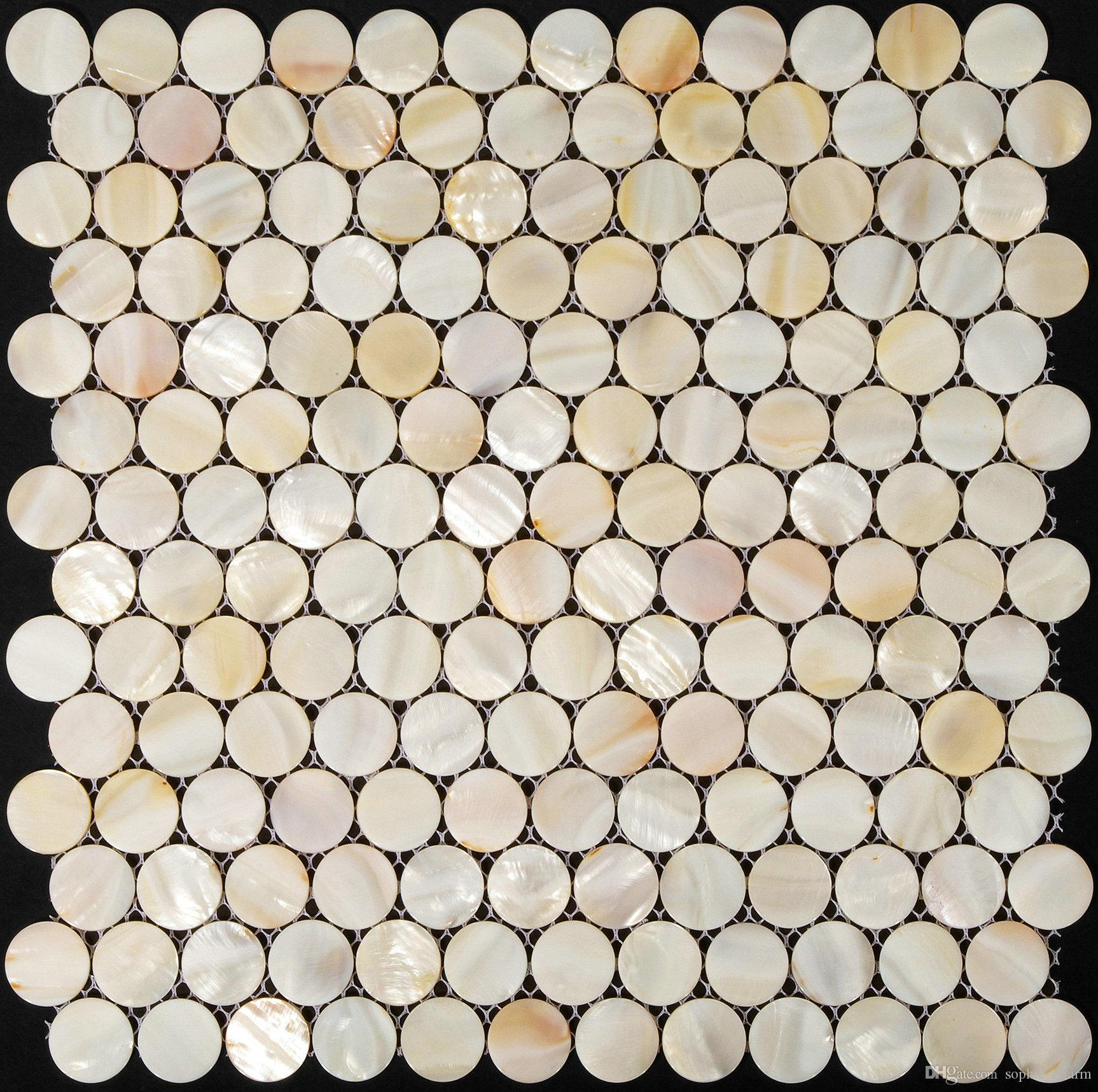 Penny round Mother of pearl mosaic kitchen backsplash sea shell tiles MOP018 shell mosaic bathroom tiles