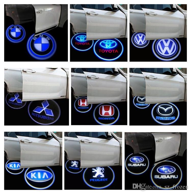 Vehicle/Car LED wireless projection LOGO Mark Door Welcome Light Door Step Ground Projecting Lamp for all brands Free Shipping