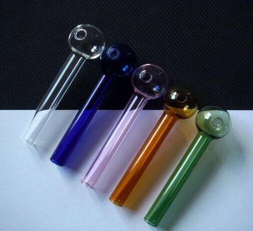 S-şekilli cam Ücretsiz kargo! Düz Cam Tencere Su Sigara Boru (50 adetgrup)