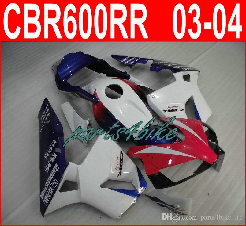 Heißer Verkauf rot weiß Karosserie für Honda CBR600RR Verkleidungen 2003 2006 CBR 600RR 03 04 Verkleidung Kit CBR 600 RR KUCD