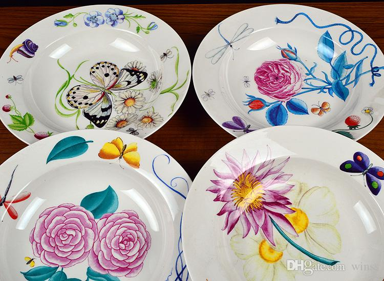 Tableware suit export Spain continental food steak dishes dishes beautiful flowers design ... & Tableware Suit Export Spain Continental Food Steak Dishes Dishes ...