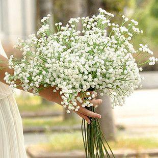 Free shipping 53cm gypsophila baby's breath artificial PU flower Plant Home Wedding Decoration decorative flowers bridal bouquet decorat
