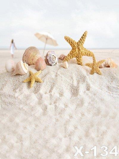 125X150cm песчаный пляж винил фонов для фотографий Муслин компьютер печатные цифровой ткань фотографии фон фотостудия фон