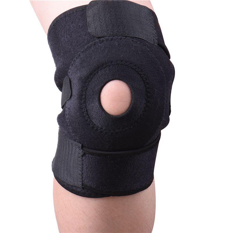Elastik profesyonel Diz Desteği Brace Kneepad Ayarlanabilir Patella Basketbol Koruma Için Diz Pedleri Güvenlik Görevlisi Askı cihazı