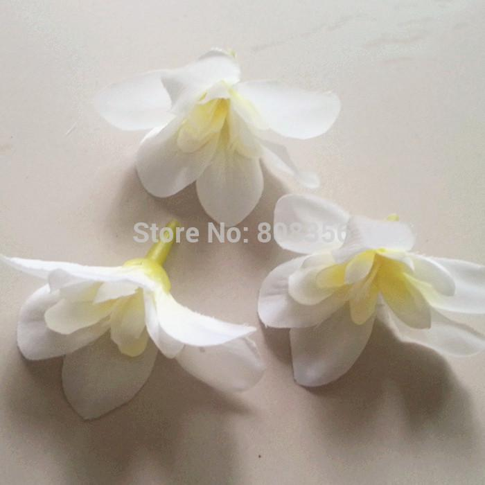 600pcs têtes de fleur d'orchidée 7.6cm / 3 pouce papillon orchidée Phalaenopsis tissu artificiel en soie fleurs de chrysanthème tête de fleur