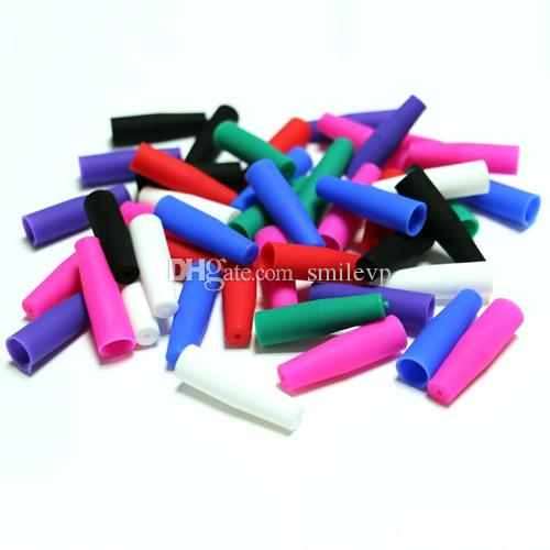 500pcs Silicone Mouthpiece Cover Disposable Colorful Silicon testing caps rubber long Test Tips Tester Cap 510 ego drip tip DHL Free