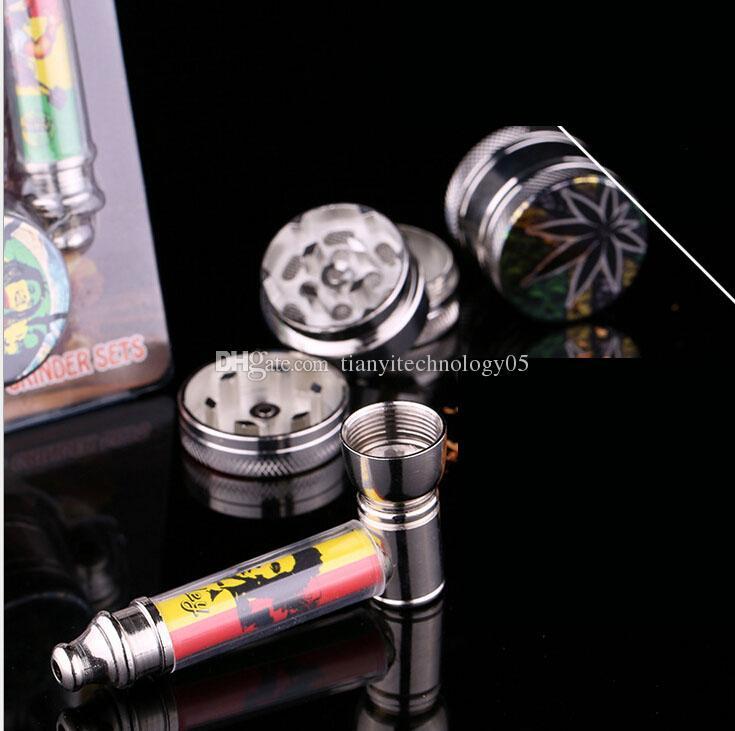 Mini Cigarette Tobacco Smoking Pipe set Herb Spice Crusher Grinder filter Net Dry Herb Vaporizer Pen Vaporizer Vapor E Cig