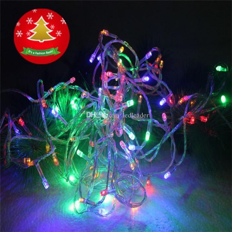 2015 Christmas Halloween LED String Lights 100 LED 10m Xmas Holiday Hoe Car Wedding Decoration Fairy Lights AC 220V Multicolor