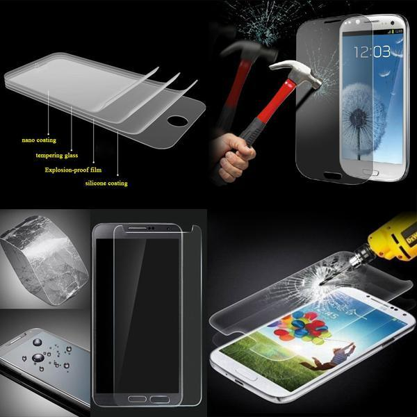 For Samsung Galaxy S6 Edge S4 S3 Note 4 S5 Shatterproof Clear Front Tempered Glass For iphone6 iphone 6 Plus 4 4S 5 5C 5S Screen Protector