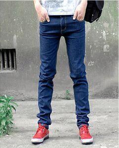 جديد أزياء الخريف الرجال جينز مستقيم سليم عارضة الرجال الجينز الرياضية outdoors السراويل القطن الرجال الملابس السراويل الرجل سروال رصاص