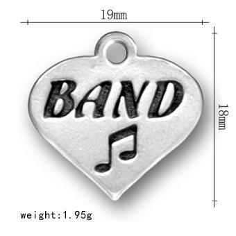 50Pcs Fashion Alphabet Brand Musical Note Heart Charm Jewelry
