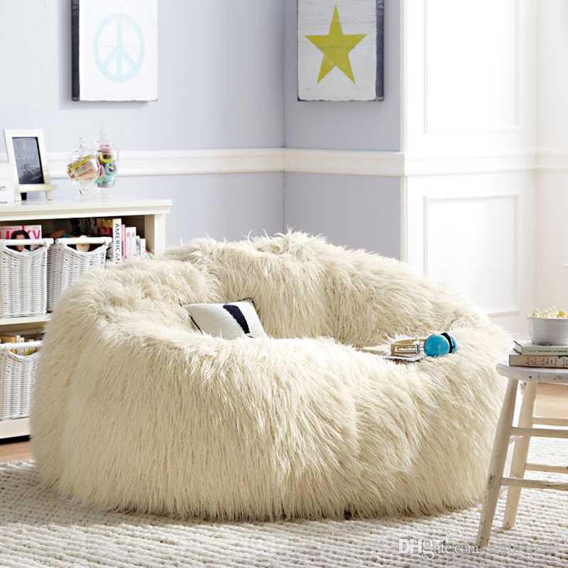 2019 Sofa Set Living Room Furniture Luxe Bean Bag Faux Fur Adult Outdoor  Long Faux Fur Lounge Chair Corner Sofa Bed From Wall Street, $176.39   ...