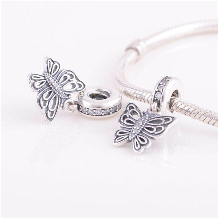 2021 925 Ale Sterling Silver Pandora Bracelets Beads Jewelry Butterfly Dangle Pendant Crystal Bead Charm Fit European Charm Bracelet For Women From Luogelan 12 59 Dhgate Com