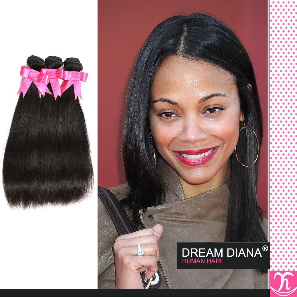 7a Девы волос Kinky прямая 4 Bundle предложения Remi волос виргинская бразильская Straight Королева волос Плетение Красота человеческих волос на линии