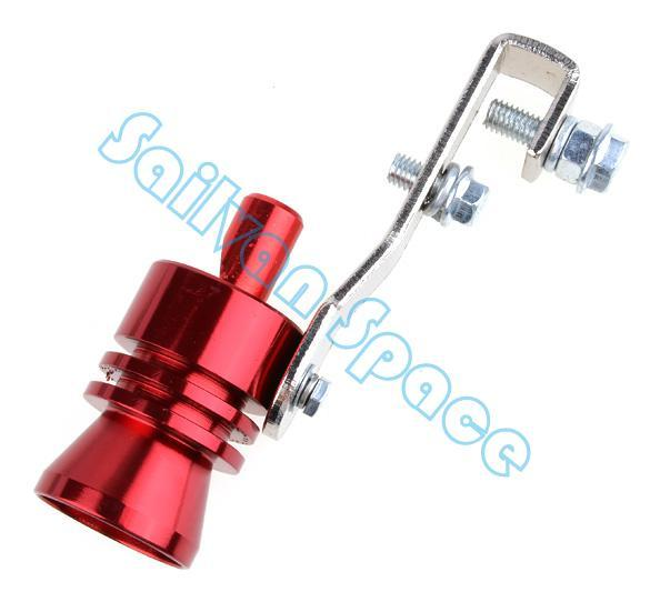 Universal Car Turbo Sound Whistle Muffler Exhaust Pipe Blow off Vale BOV Simulator Whistler Size L Red b8 SV004785