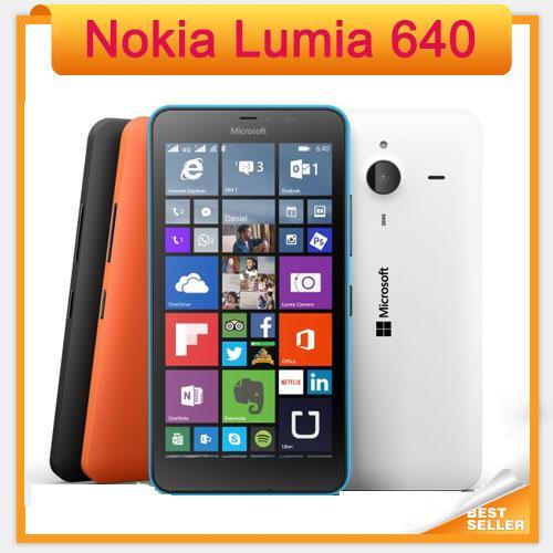 Desbloqueado original nokia lumia 640 windows phone 8.1 telefone móvel quad core 5.0 tela dual sim 4g telefone móvel