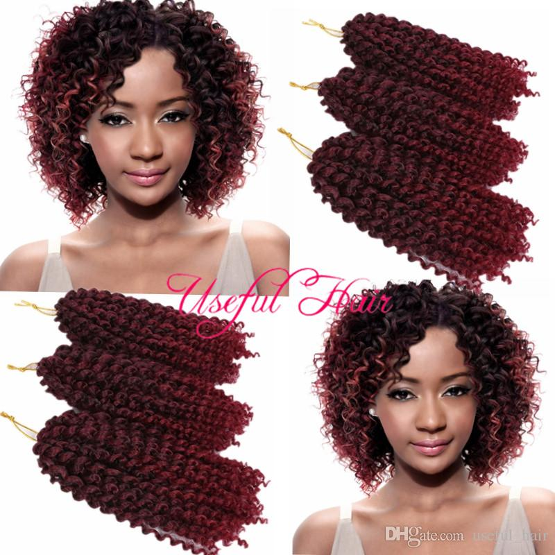 wholesale cheap price sample mali bob MALIBOB 8INCH MARLYBOB KINKY CURLY HAIR SYNTHETIC BARIDING crochet braids 6lots for one hea hooks gift